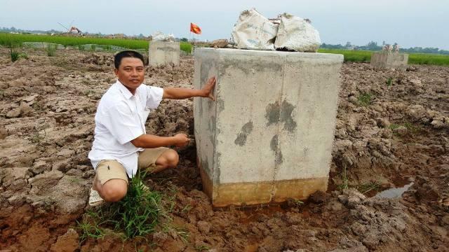 Trụ điện không đảm bảo chất lượng được phát hiện ở Nam Định.