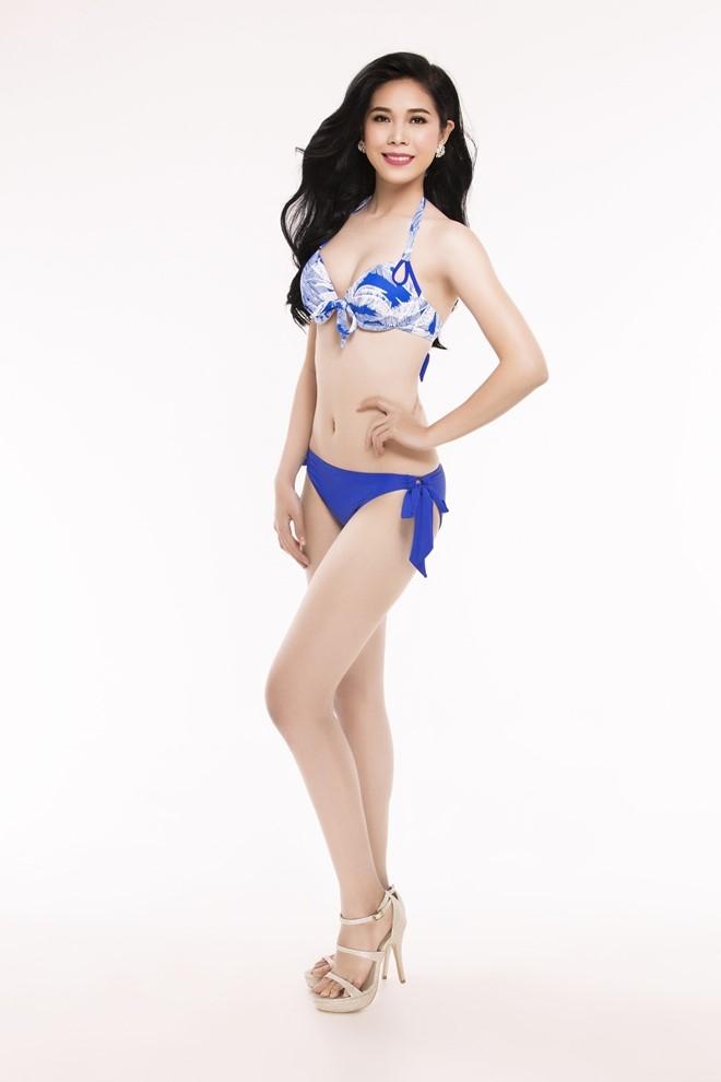 Nguoi dep Hoa hau Viet Nam 2016 tao dang voi bikini hinh anh 3