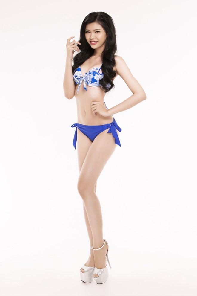Nguoi dep Hoa hau Viet Nam 2016 tao dang voi bikini hinh anh 7