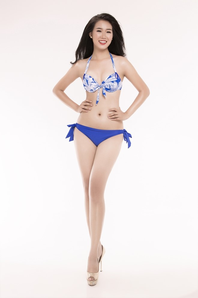 Nguoi dep Hoa hau Viet Nam 2016 tao dang voi bikini hinh anh 14