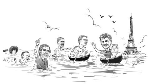 Nhật ký EURO: Paris mùa này nhiều cá lắm phải không em...