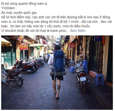 9X Hai Duong lap hanh trinh di bo xuyen Dong Nam A hinh anh 1