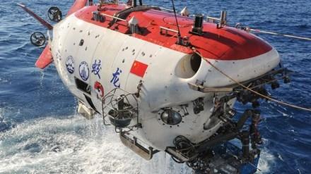 Tàu lặn Giao Long của Trung Quốc. Ảnh: Xinhua