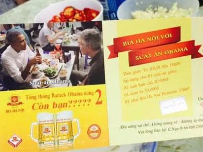 Dùng hình ảnh ông Obama để marketing, Bia Hà Nội có thể bị phạt 30 triệu đồng