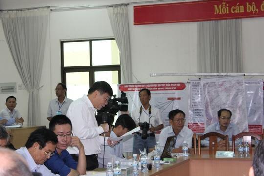 Đại diện cho các hộ dân, Luật sư Trần Vũ Hải nêu 3 điểm cần làm rõ trong buổi đối thoại.