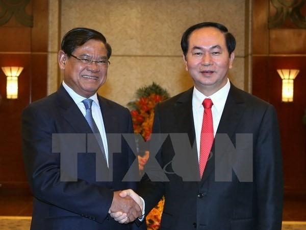 Chu tich nuoc Tran Dai Quang sap tham Lao, Campuchia hinh anh 1
