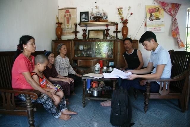 Gia đình liệt sỹ Trần Khắc Khiết trình bày sự việc với PV