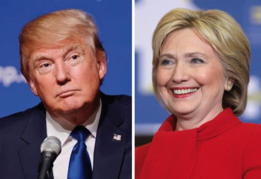 Hai ứng viên tổng thống đảng Cộng hòa và Dân chủ, ông Donald Trump (trái) và bà Hillary Clinton (Ảnh: Policticus USA)