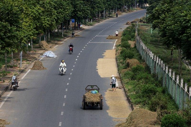 Đại lộ Thăng Long, hiện đại, Việt Nam, Hà Nội, sân phơi, đường làng