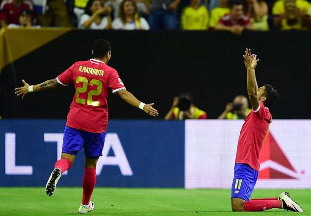 Chiến thắng trước Colombia giúp Costa Rica ngẩng cao đầu rời giải