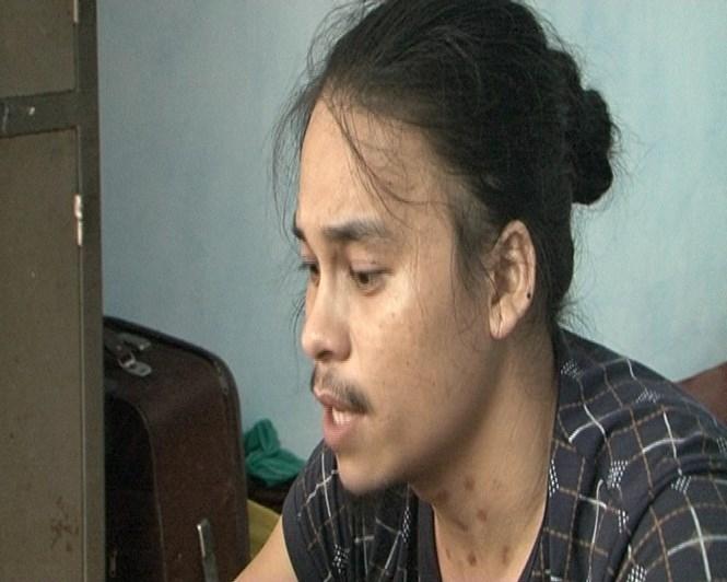 Trương Quang Lượng bị Công an tỉnh Thừa Thiên - Huế bắt giữ khi lẩn trốn tại quê vợ /// Ảnh: T.Bình