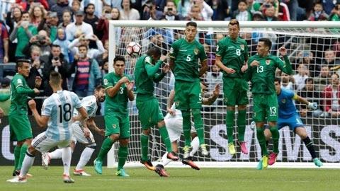 Lamela sút phạt mở tỷ số cho Argentina