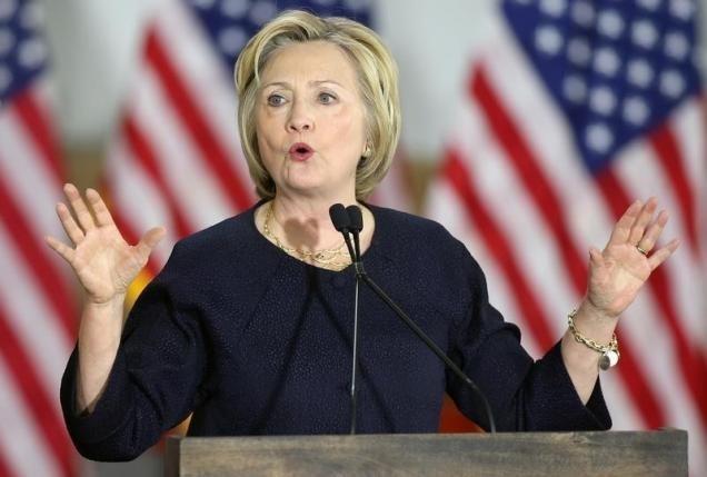 Ba Clinton thang ap dao o thu do Washington hinh anh 1
