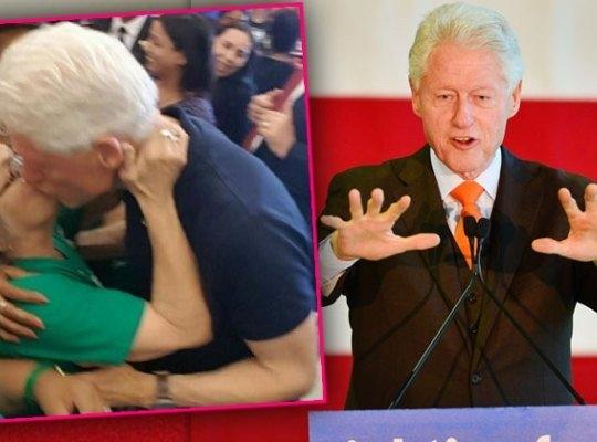 Bill Clinton, khóa môi, hôn, Hillary