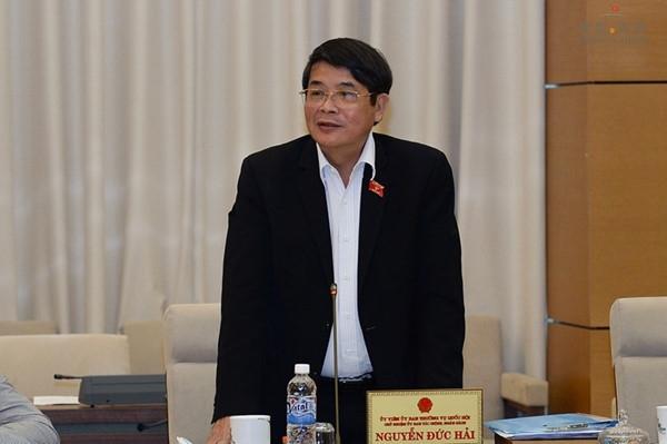 Chủ nhiệm UB Tài chính - Ngân sách Nguyễn Đức Hải là người kế nhiệm của Phó Chủ tịch Quốc hội Phùng Quốc Hiển (ảnh: Quochoi.vn)