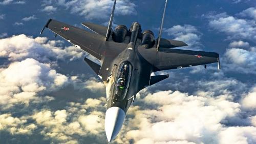Video: Mãn nhãn với tuyệt kĩ nhào lộn trên không của tiêm kích Su-30 - Ảnh 1