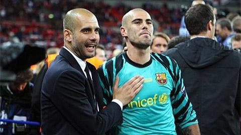 Valdes trở lại Manchester khoác áo... Man City?