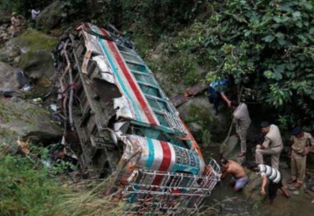 Một vụ tai nạn xe buýt ở Ấn Độ.