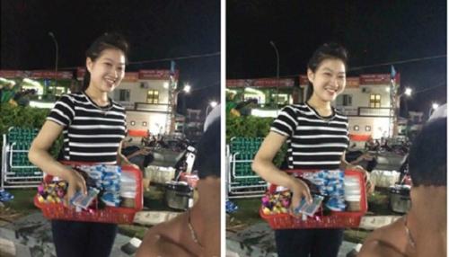 'Truy lùng' cô gái bán kẹo xinh ngất ngây - Ảnh 1
