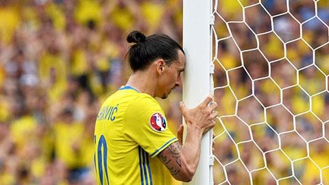 Ibra và Thụy Điển lập kỷ lục buồn tại EURO 2016