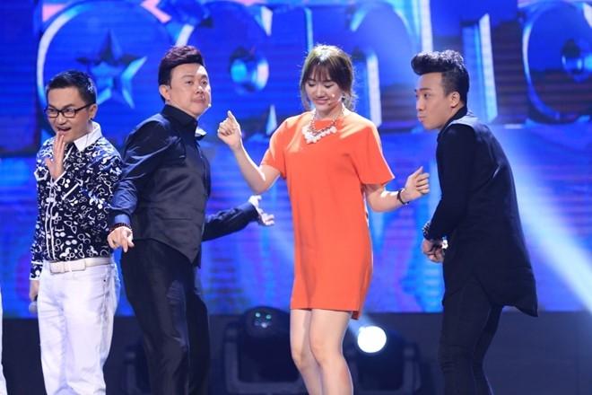 Hari Won tat 'gao nuoc lanh' vao Tran Thanh tren ghe nong hinh anh 1