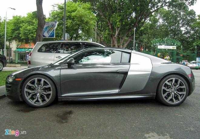 Sieu xe Audi R8 V10 mau la o Sai Gon hinh anh 7