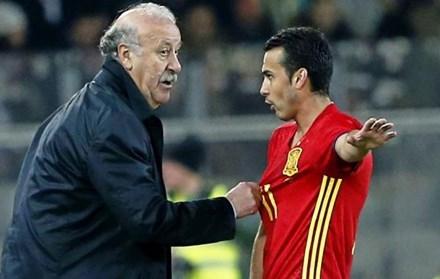 HLV Del Bosque không truy cứu phát biểu gây sốc của Pedro.