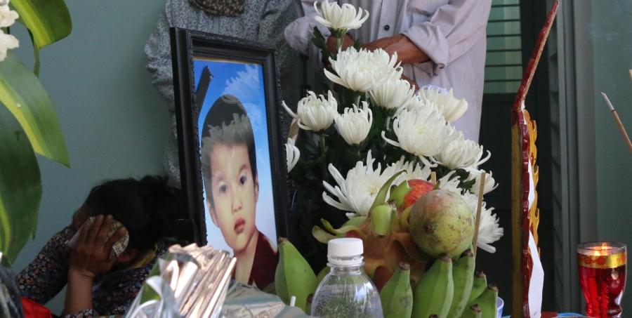 Di ảnh cháu Nguyễn Anh Đức trong vụ đuối nước thương tâm.