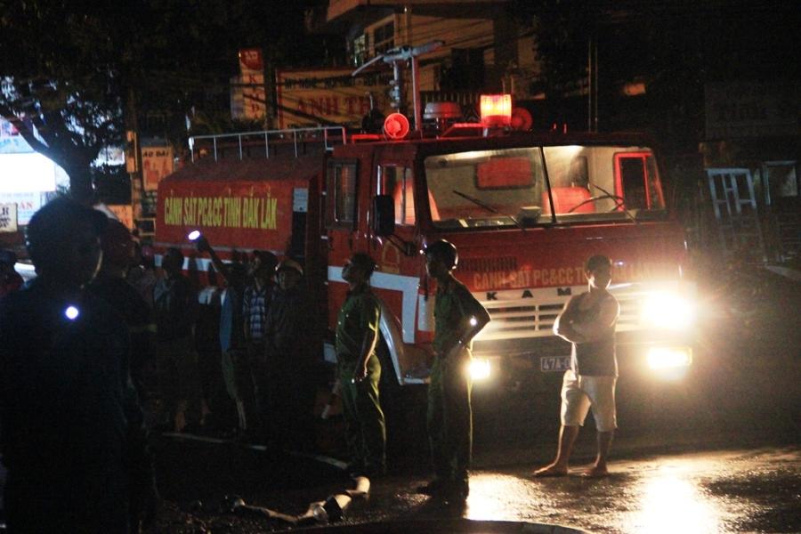 Xe cứu hỏa được huy động đến hiện trường