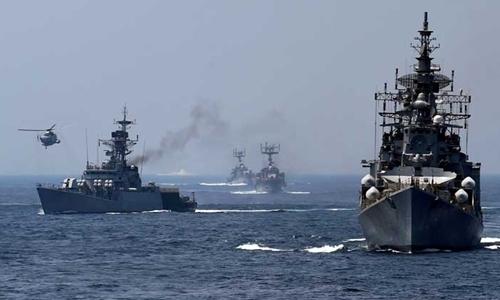 Hải quân Ấn Độ trong một cuộc tập trận (Ảnh: PTI)