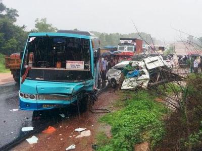 Xe bus chạy quá tốc độ đâm xe tải khiến 8 học sinh Ấn Độ thiệt mạng