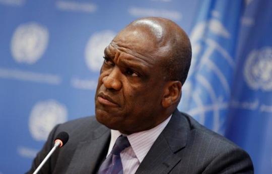 Ông John Ashe, cựu chủ tịch Đại Hội Đồng Liên Hiệp Quốc. Ảnh: REUTERS