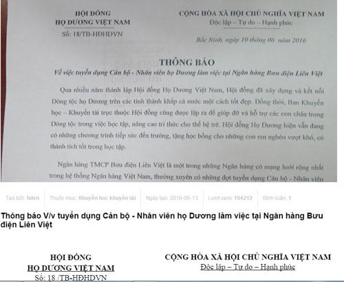 LienVietPostBank, ngân hàng, tuyển dụng, Dương Công Minh, Nguyễn Đức Hưởng
