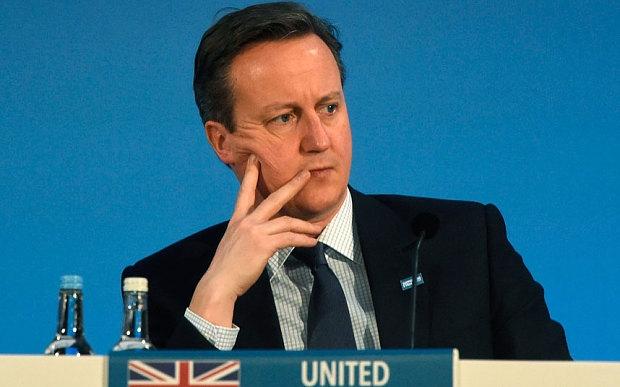 Tương lai Thủ tướng Anh Cameron đang mờ mịt. (Ảnh: Telegraph)