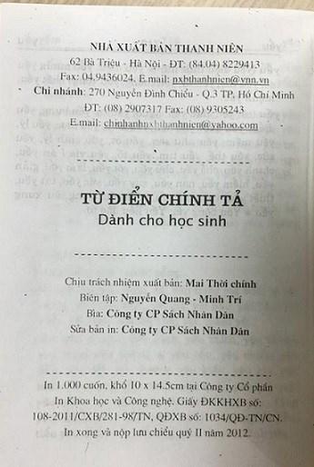 Xôn xao cuốn từ điển chính tả tiếng Việt cũng sai... chính tả? - Ảnh 5
