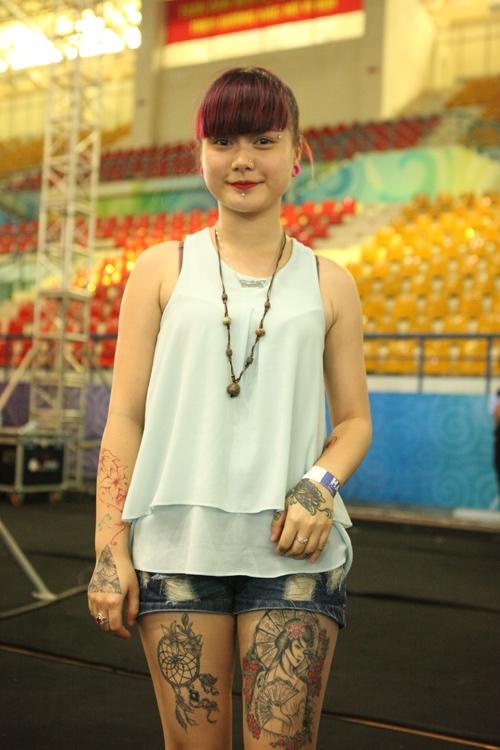 Soóc ngắn sexy ngập tràn lễ hội xăm mình ở Hà Nội - 5