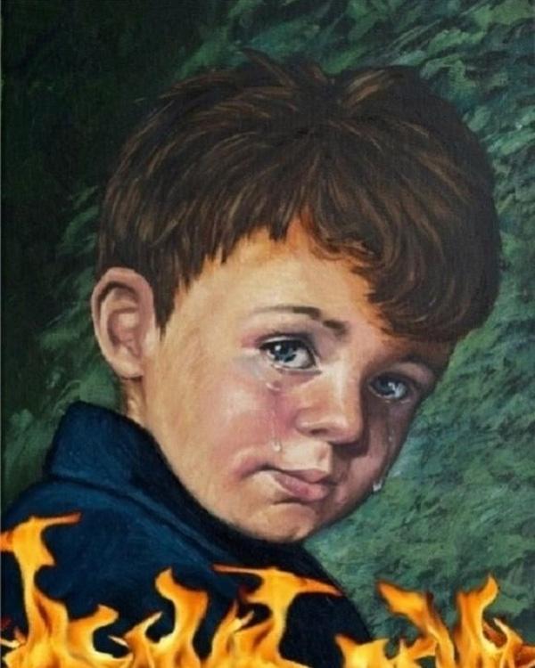 bé trai khóc