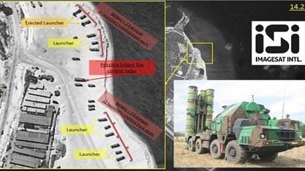 Trung Quốc ngang nhiên triển khai tên lửa đất đối không trên đảo Phú Lâm thuộc quần đảo Hoàng Sa của Việt Nam. Ảnh: ImageSat