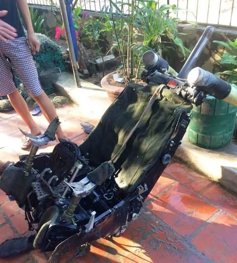 Chiếc ghế được ngư dân xã Hải Ninh, huyện Tĩnh Gia vớt ngoài khơi cách đảo Mê (huyện Tĩnh Gia) khoảng 10 hải lý