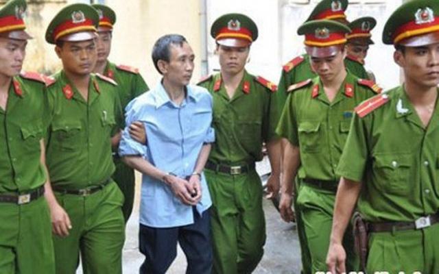 Hàn Đức Long trong các phiên tòa xét xử trước đó (Ảnh: Việt Đức - Pháp luật plus)