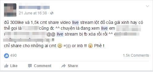 Nhiều người mất tài khoản vì xem các clip sex được live stream trực tiếp trên facebook - Ảnh 3.