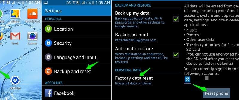 smartphone, Android, xóa dữ liệu