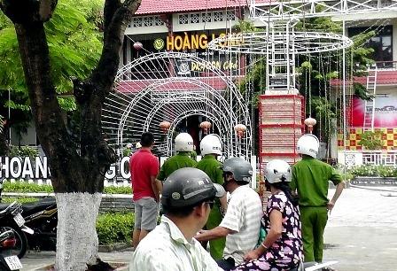Đám cháy bên trong khách sạn Hoàng Long đã được dập tắt