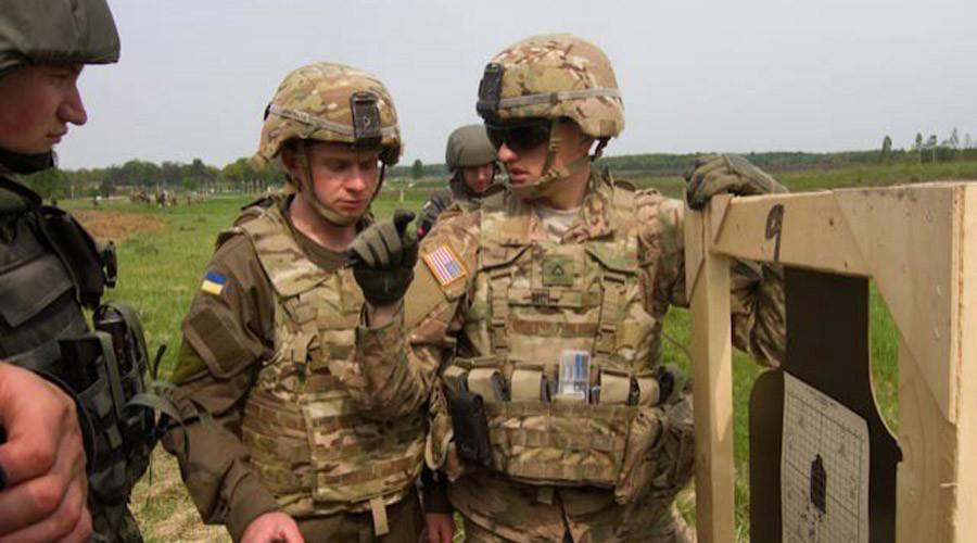 Các binh sĩ tham gia tập trận tại Ukraine (Ảnh: Army.mil)
