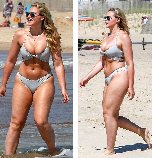 Iskra Lawrence, người đẹp 25 tuổi, đang hành nghề người mẫu tại Anh. Người đẹp sở hữu thân hình mĩm mĩm nhưng vẫn có những đường cong nóng bỏng.