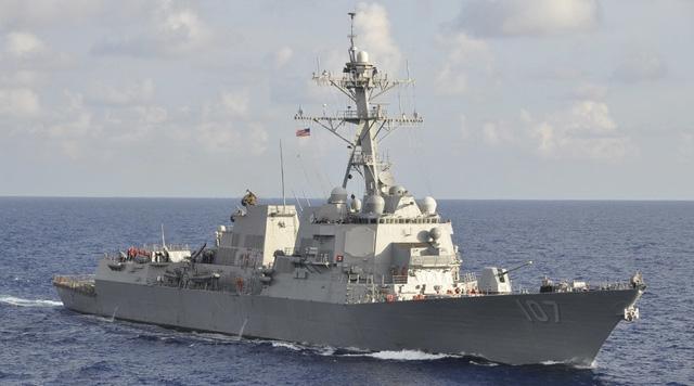 Tàu khu trục mang tên lửa dẫn đường USS Gravely của Mỹ. (Ảnh: Reuters)