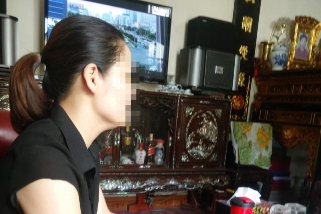 Chị Nguyễn Thị Lập (SN 1975) bị chồng bạo hành suốt một thời gian dài. Ảnh: V.Dũng