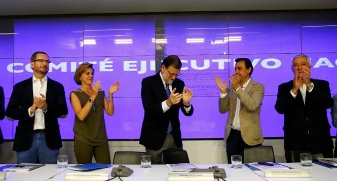Đảng Nhân dân (PP) của Thủ tướng Mariano Rajoy trong cuộc họp sau ngày tổng tuyển cử /// Reuters