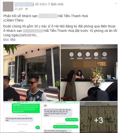 Thanh Hóa: Khách du lịch tố bị khách sạn đuổi thẳng cổ đoàn 30 người vì dám chê cơm khách sạn - Ảnh 1.