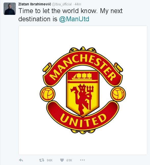 Ibrahimovic chinh thuc gia nhap Manchester United hinh anh 1